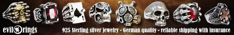 evilrings biker jewelry - handmade from solid sterling silver. reliable worldwide shipping with insurance